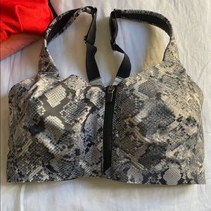 Victoria's Secret snakeskin print sports bra